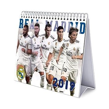 Calendario Real Madrid.Amazon Com Real Madrid Monthly Desk Calendar 2019 January 2019