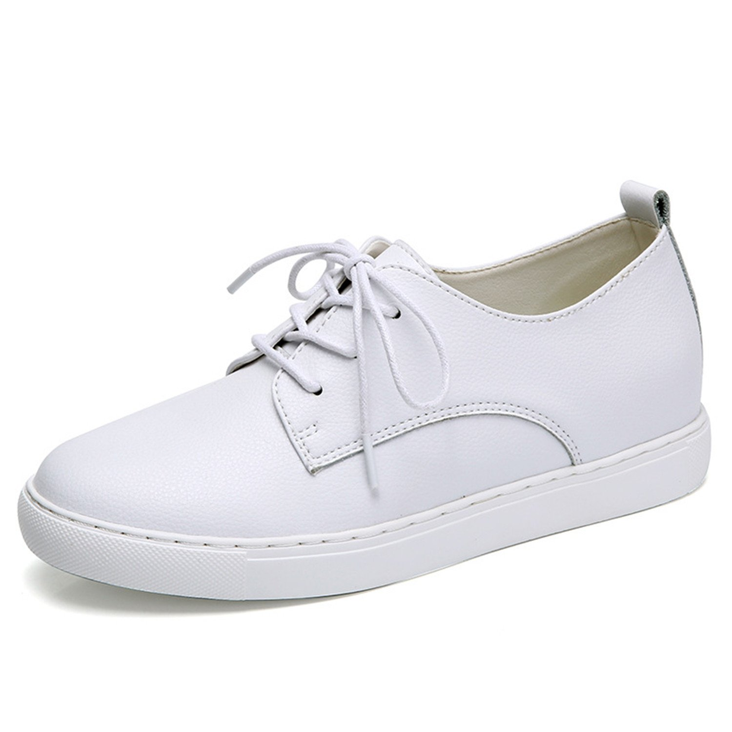 Doris Batchelor Woman Genuine Leather Lace up Sneaker Increased Internal Flats