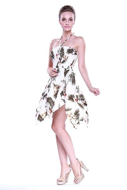 Vestido gitano Vestido hawaiano Vestido Luau Vestido de hada en Crema de Orquídea
