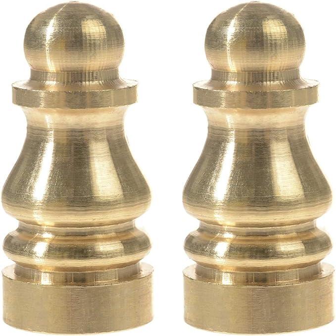 """Solid Brass Lamp Finial New Fan Design Elegant Light Repair Replacement  2 3//4 /"""""""