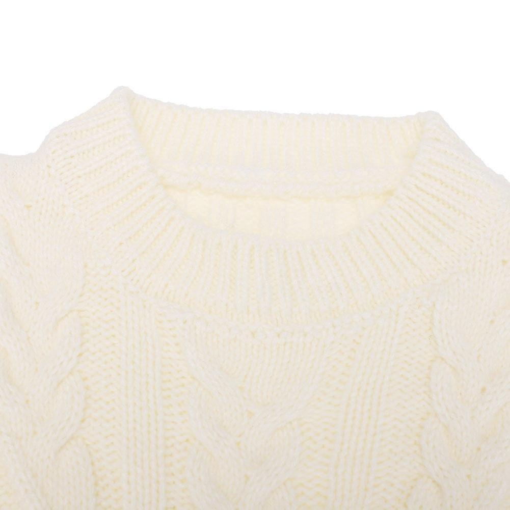 chinatera Baby Girls Autumn Dresses Pullovers Layered Hem Princess Warm Knitted Sweaters