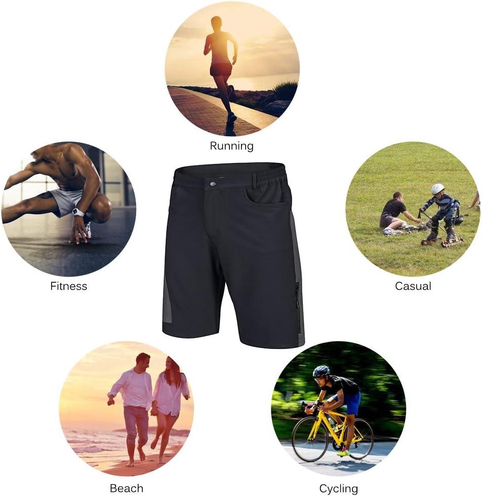 Pantaloncini Ciclismo Biciclette Bici MTB Pantaloni Traspirante Shorts per Ciclismo da Corsa Allaperto TOMSHOO Pantaloncini MTB Uomo