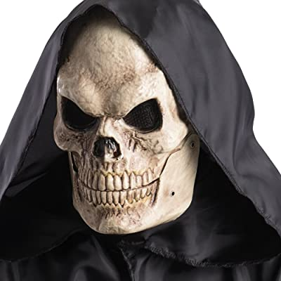 Carnival Toys 781 Mask Skull with Jaw Mobile, Beige, One Size: Toys & Games