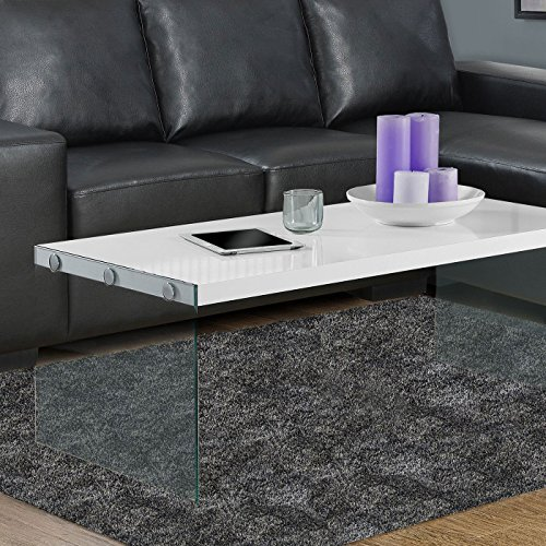 small glass and wood coffee table