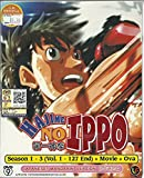 HAJIME NO IPPO SEASON 1 - 3 - COMPLETE TV SERIES DVD BOX SET ( 1-127 EPISODES + MOVIE + OVA )