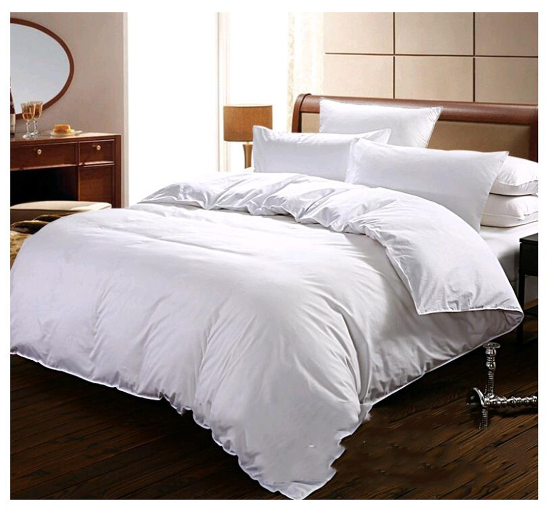 100% Cotton Duvet Cover 3 Piece Hotel White Duvet Cover Set With 2 Pillow Cases Alternative Goose Down-Hypoallergenic Soft and Fade Wrinkle Resistant-Luxury Soft Quality Collecti (3 Piece-400TC/king)