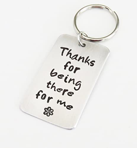 amazon com thanks for being there for me key ring thank you gift