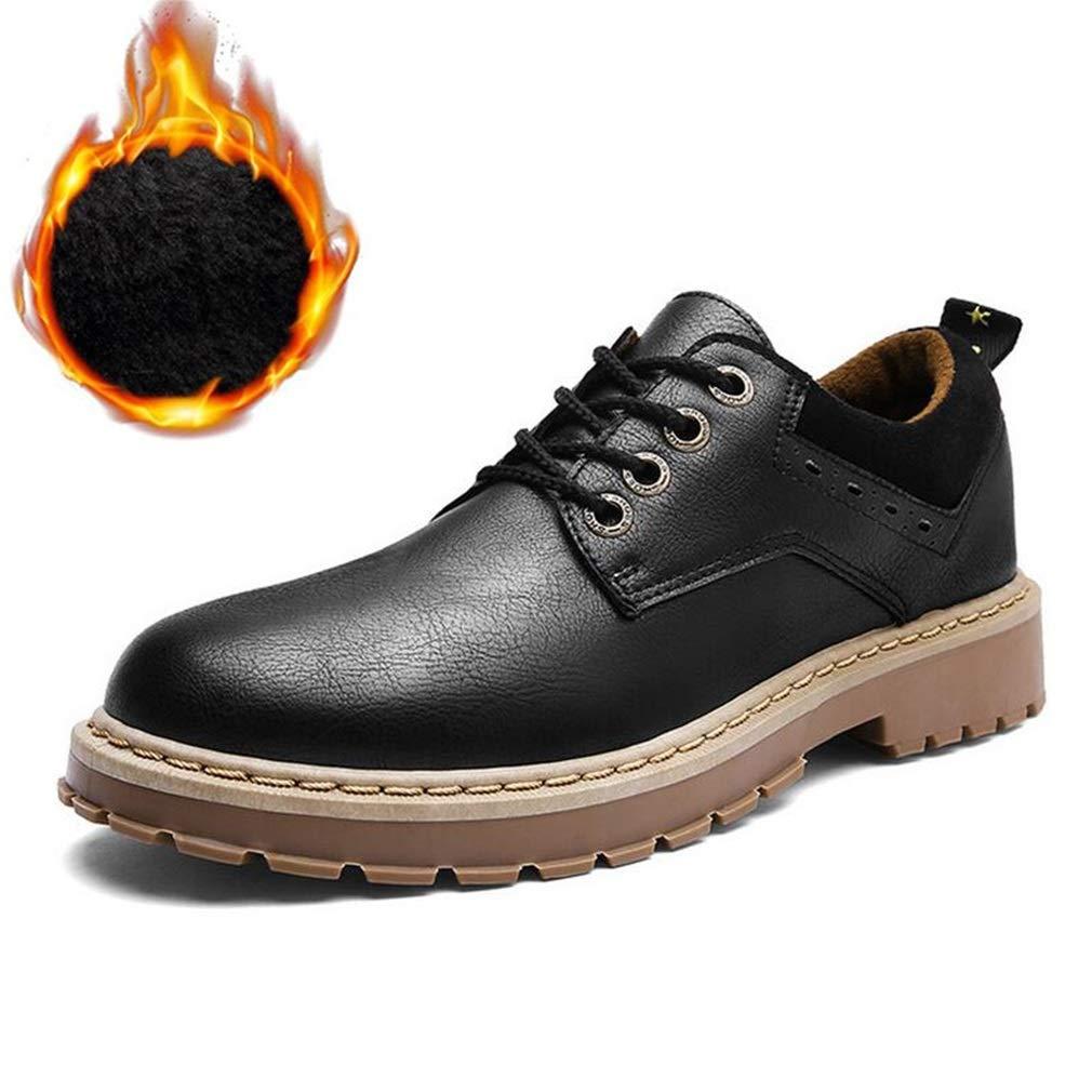 Hy Herren Herren Herren Formale Schuhe, künstliche PU Herbst Winter Retro Martins Stiefel, Männer Casual Tooling Stiefel sowie samt warme Baumwolle Schuhe Dad Schuhe (Farbe   E, Größe   41) 5ef6c8