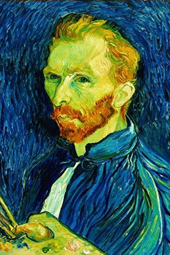 ArtParisienne Self-Portrait 1889 by Vincent Van Gogh Wall Decal, 24