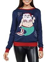 Tipsy Elves Women's Santa Mermaid Christmas Sweater - Funny Cute Ugly Christmas Sweater