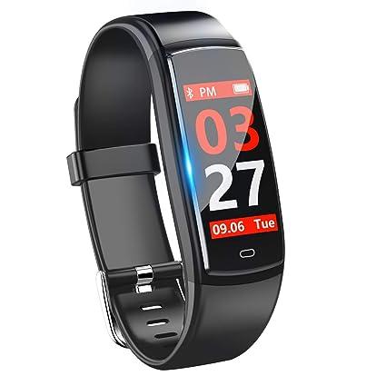 Pulsera de Actividad,GLAMSVILL Reloj Inteligente Deportivo Rastreador de Fitness Con Monitor de Presión Arterial