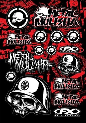 Factory Effex 14-68050 Metal Mulisha Sticker Kit 1