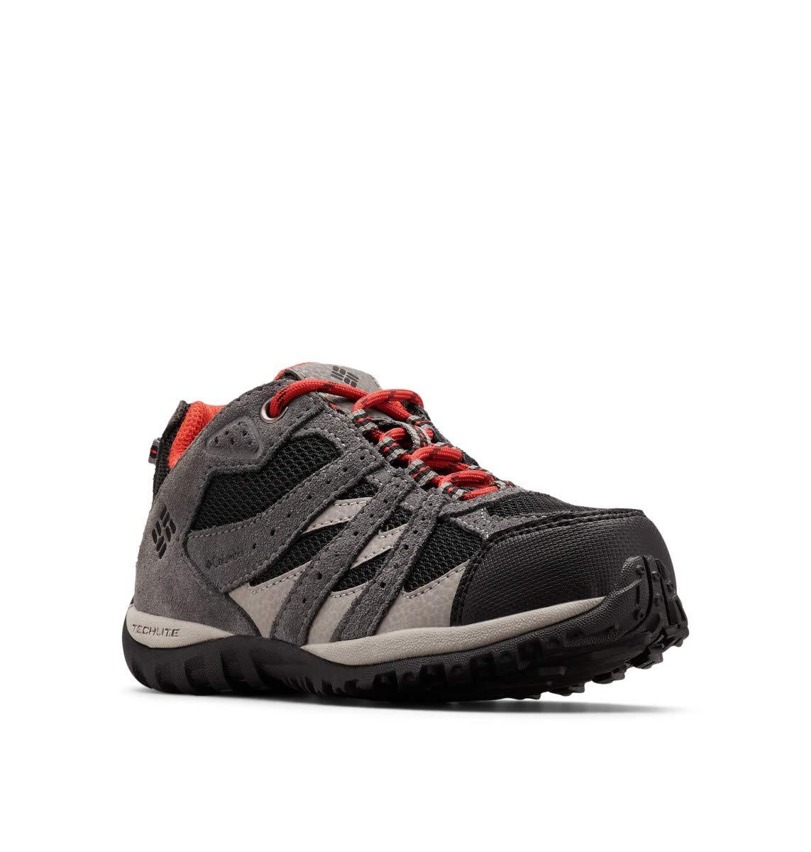 Columbia Unisex Childrens Redmond Waterproof Hiking Shoe, Black/Flame, 10 M US Little Kid by Columbia