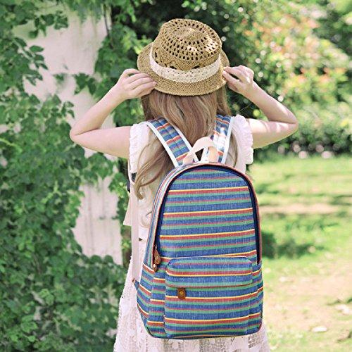 Japanischen Stil Leinwand Schultertasche Schultaschen Kunst Rucksack