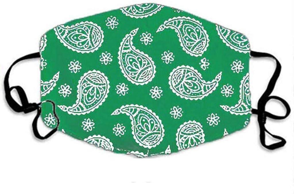 A Sannysis Damen Mundschutz mit Motiv Waschbar Stoff Wiederverwendbar Mund und Nasenschutz Halstuch Atmungsaktive Staubdicht Multifunktionstuch