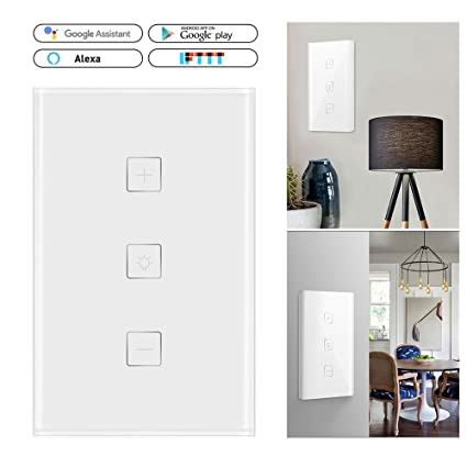Lighting Smart RC Light Dimmer Wall Touch Control WiFi Light Switch