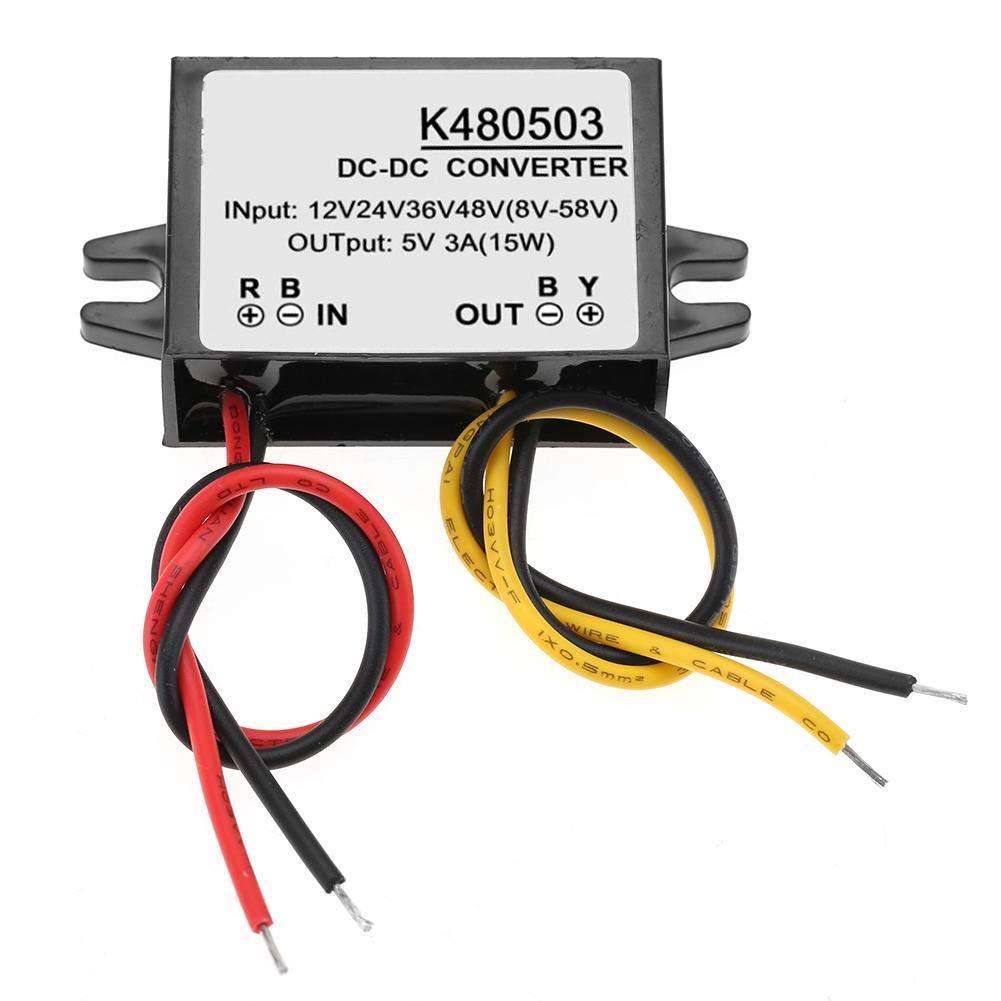 Transformador de tensión DC 12 V/24 V/36 V/48 V hasta 5 V 3 A fuente de alimentación DC inversor