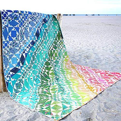 Tula Pink Rainbow Waves Quilt Kit Featuring Tula Pink Zuma Fabric by Tula Pink Patterns (Image #4)