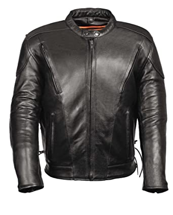 b27770dffdfd3 LEATHER KING Leather Biker Jacket-Vents Tall Sizes at Amazon Men s ...