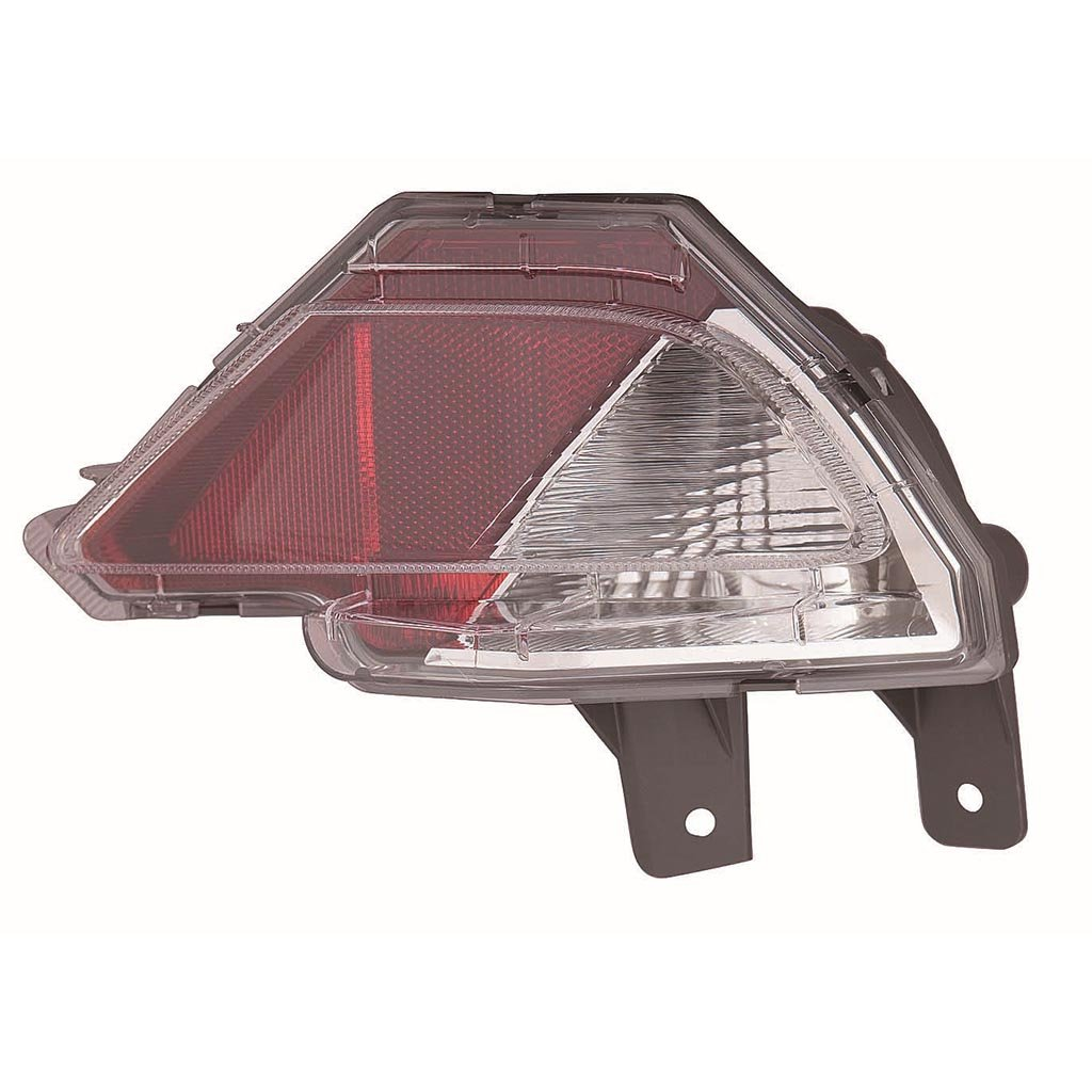 CarLights360: Fits 2016 2017 2018 TOYOTA RAV4 Reflector Passenger Side w/Bulbs - (CAPA Certified) Replacement for TO2883107