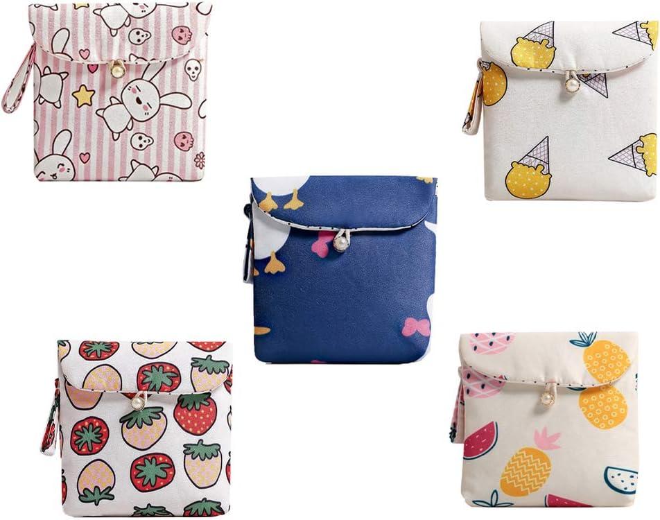 TOPBATHY 5 piezas bolsa de servilleta sanitaria tazas de tela ...