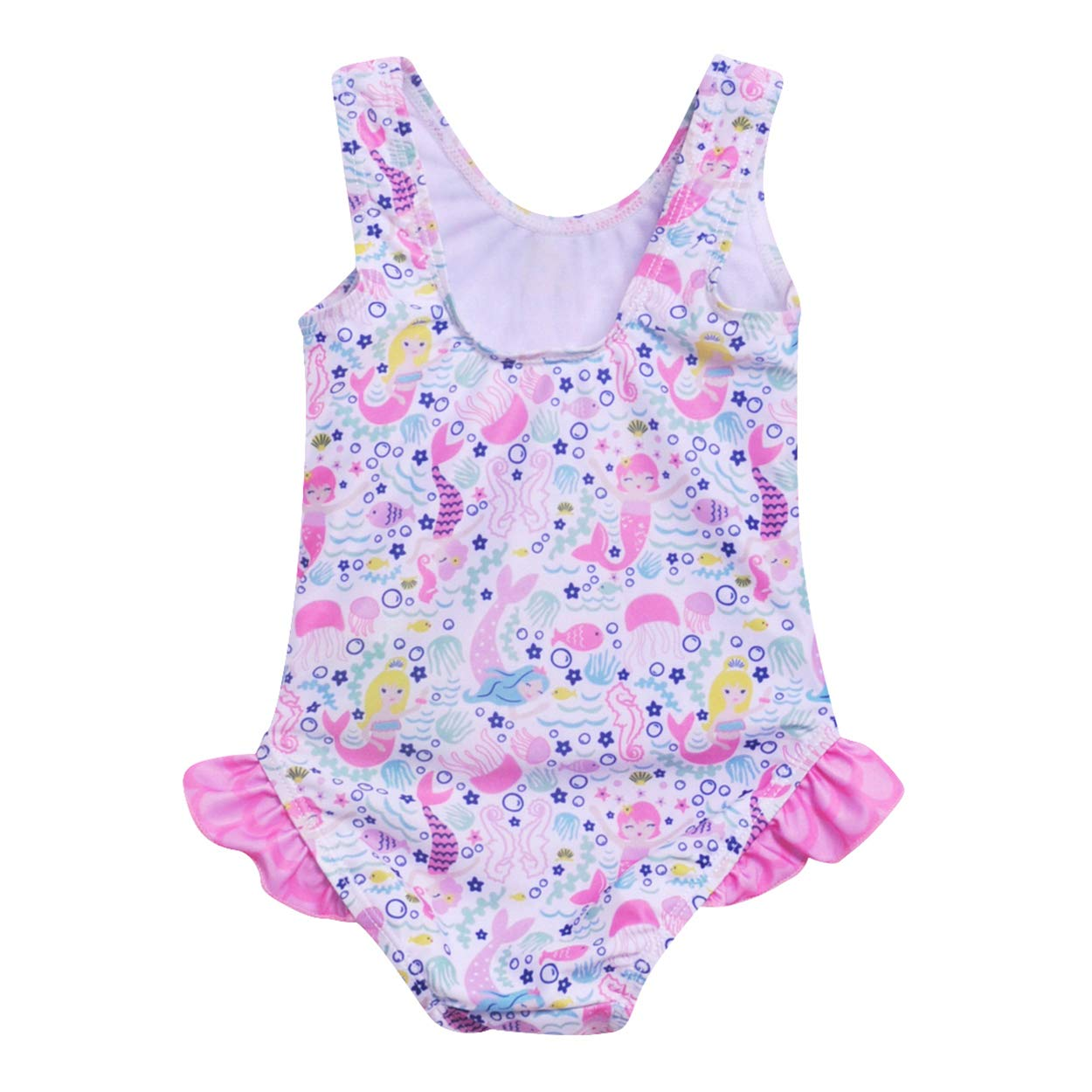 Flap Happy Baby Girls UPF 50 Delaney Hip Ruffle Swimsuit