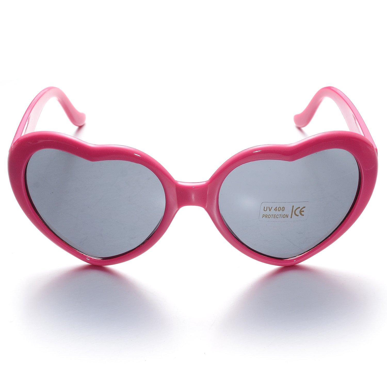ONNEA 6 Coppie Set Forma di Cuore Occhiali da Sole Festa per Bambini Uomo Donna 6 Multicolore