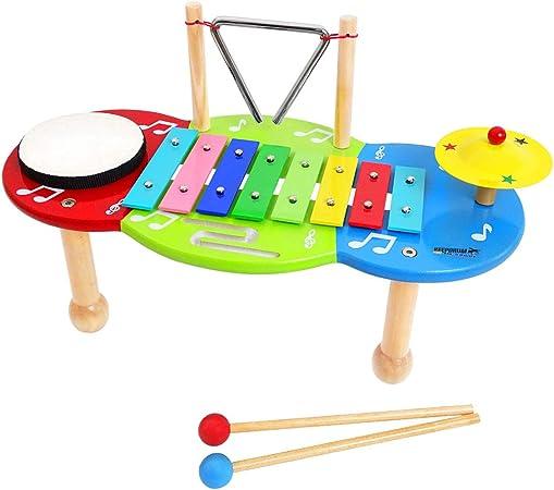 KEEPDRUM - Mesa musical infantil con campana: Amazon.es ...