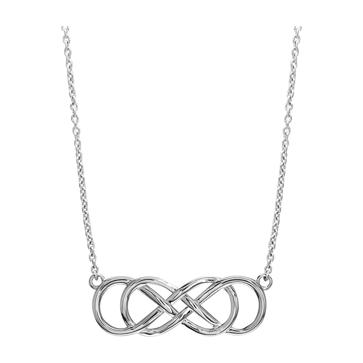 Amazon extra large sideways double infinity symbol charm and amazon extra large sideways double infinity symbol charm and chain in sterling silver 15 18 total length double infinty necklace jewelry biocorpaavc Gallery