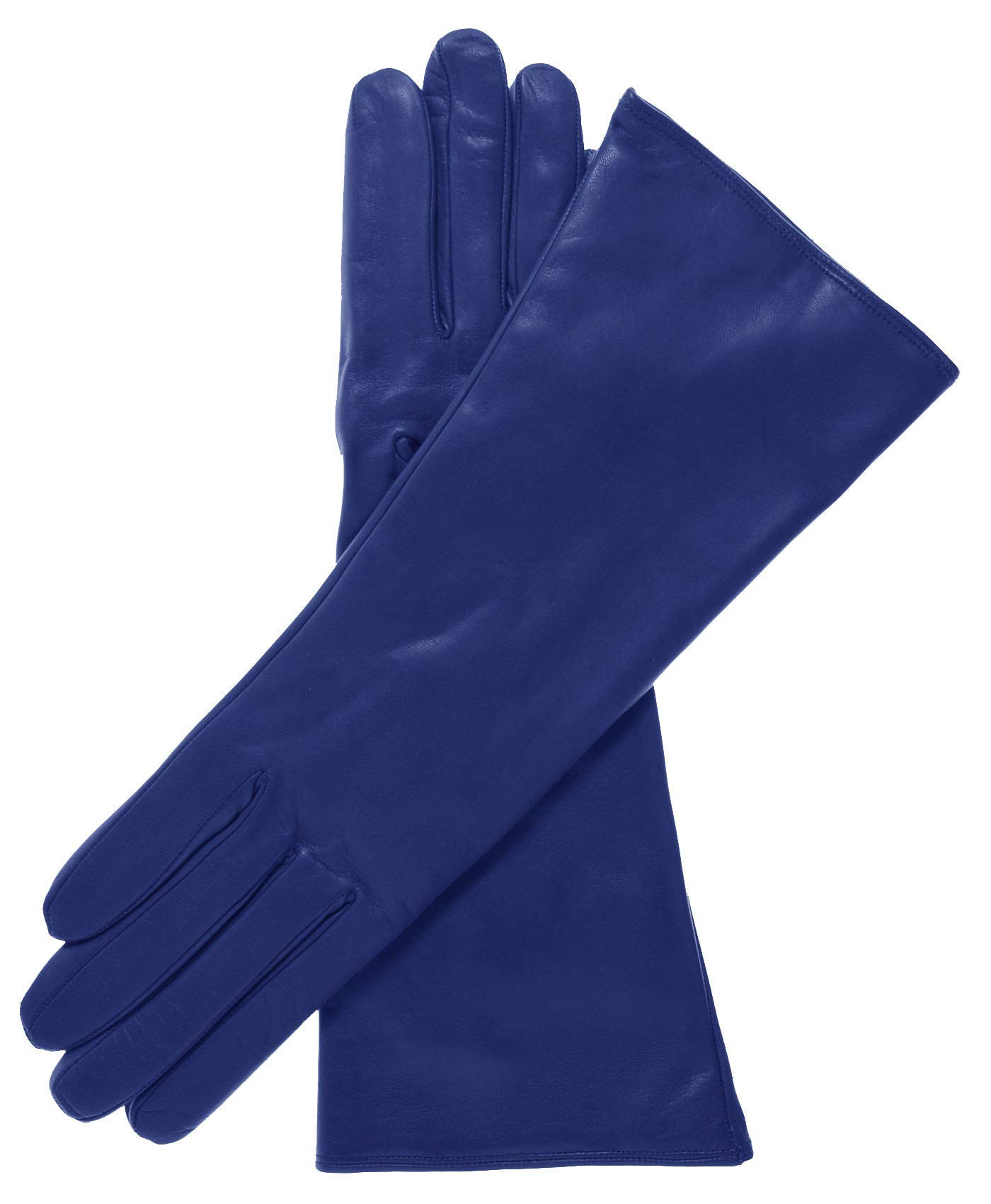 Fratelli Orsini Women's Italian''4 Button Length'' Cashmere Lined Leather Gloves Size 6 Color Blue