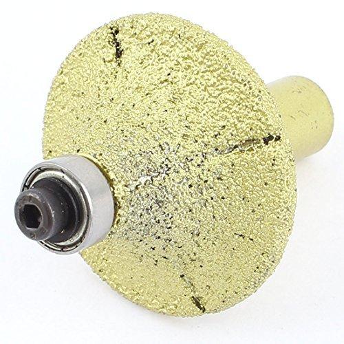 Gold Tone 44mm Dia Bullnose diamant Routeur Profil Bit pour Marble