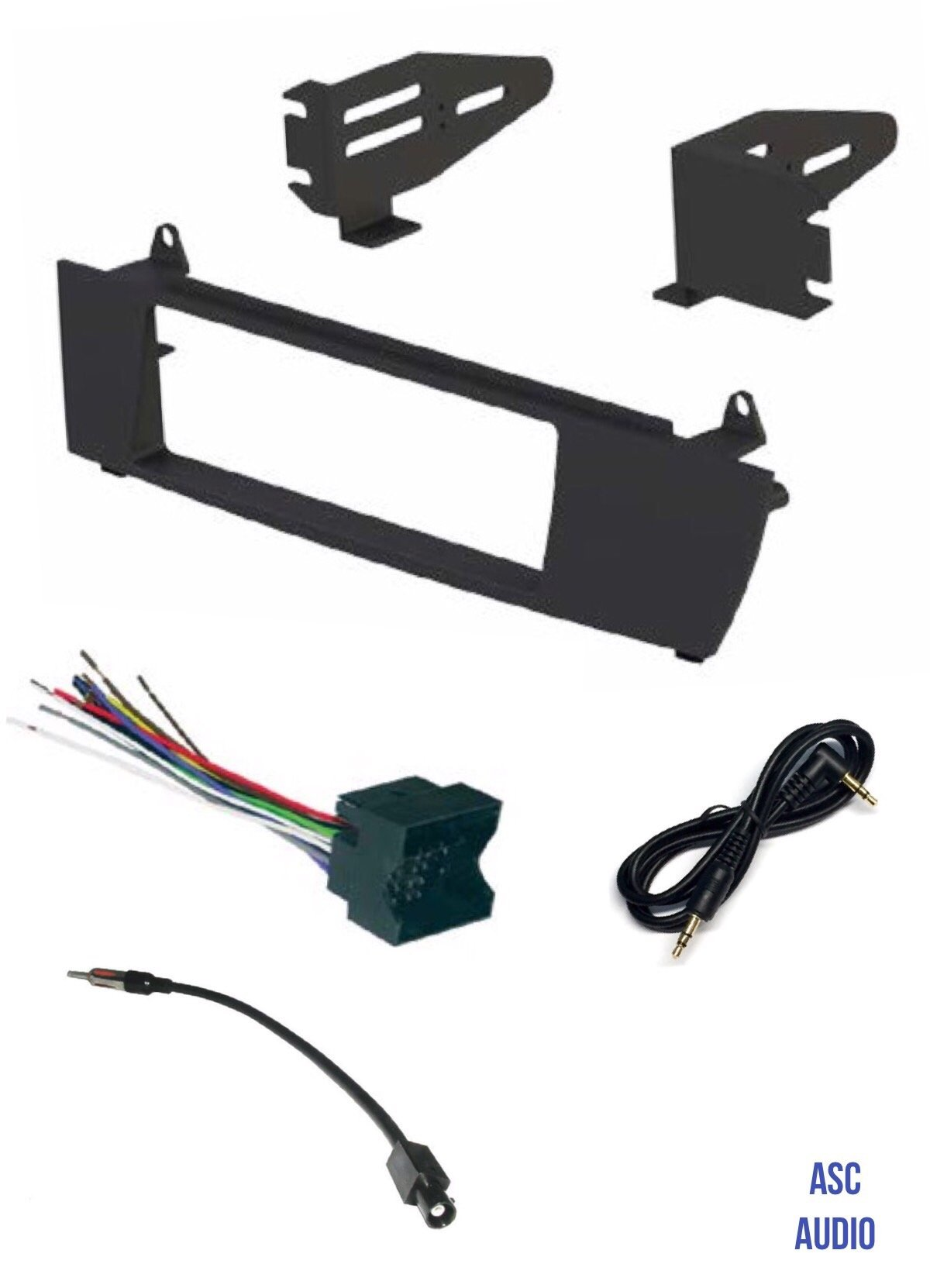 ASC Car Stereo Install Dash Kit, Wire Harness, and Antenna Adapter to Install and Aftermarket Single Din Radio for 2004 2005 2006 2007 2008 2009 2010 BMW X3