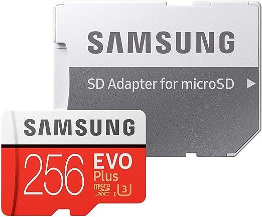 Samsung EVO Plus - Tarjeta de Memoria de 256 GB con Adaptador SD (100 MB/s, U3): Samsung: Amazon.es: Informática
