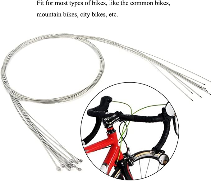 1pc Bike Bicycle Brake Shift Cable Rear Derailleur Wire Coated SEAU