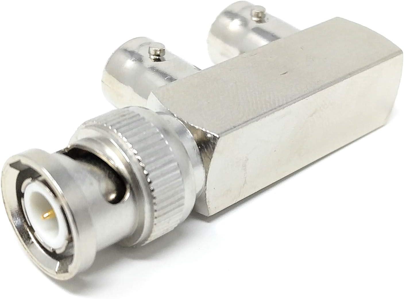 5x T-BNC Coaxial Connector Splitter Adapter 2x Female 1x Male VIDEO TBNC