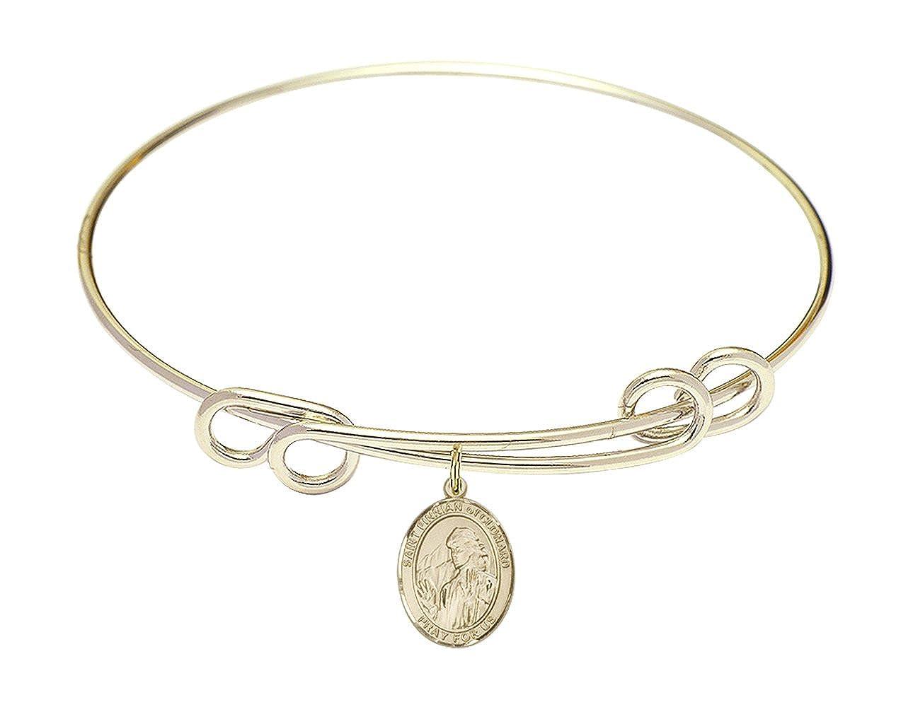 Finnian of Clonard Charm. DiamondJewelryNY Double Loop Bangle Bracelet with a St