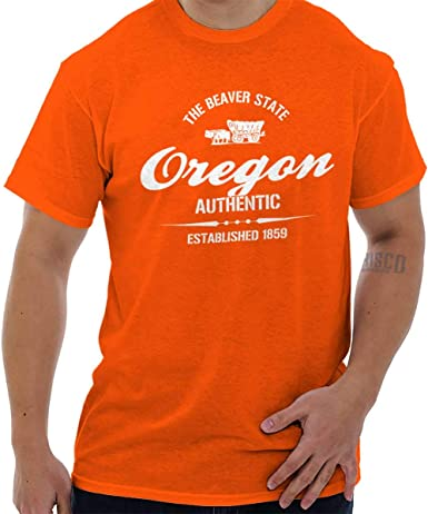 Classic Teaze Oregon State Pride Souvenir regalo destino ubicación diseño camiseta Tee - Anaranjado -: Amazon.es: Ropa y accesorios