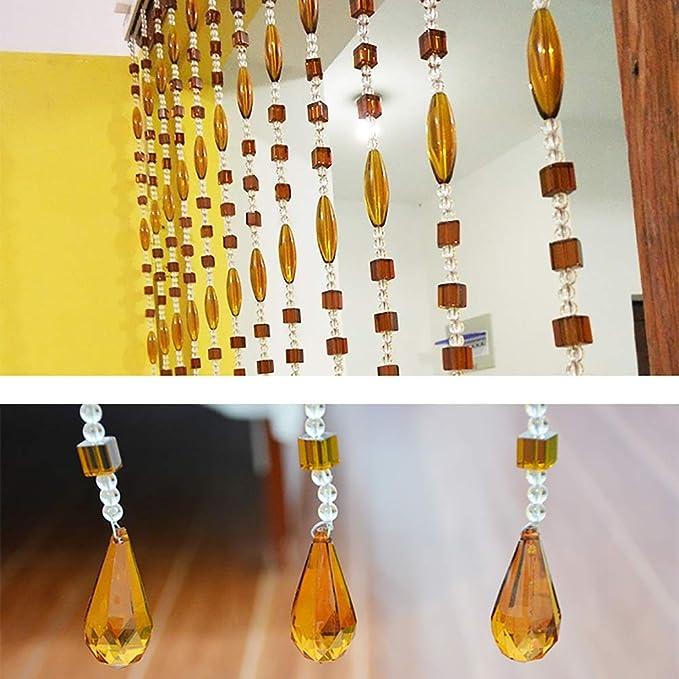 GuoWei-Cortinas de Cuentas Vaso Cristal Colgantes para Puerta Tabique Colgando Cuerdas Decoración Salón Dormitorio Armario (Size : 24 strands-120cmx200cm): Amazon.es: Hogar