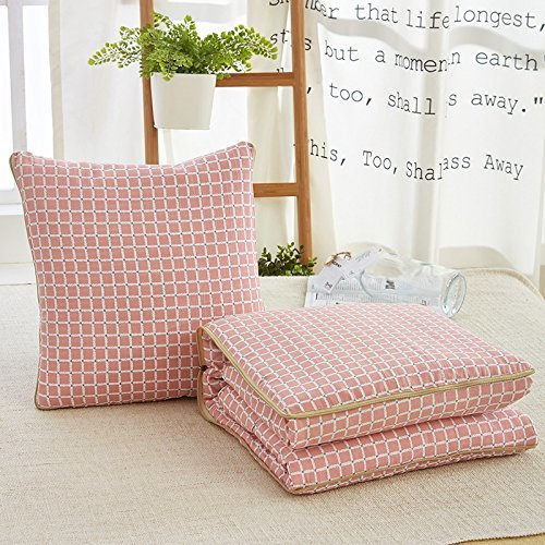 HOMEE Minimalist Washable Pillow is Small Fresh Cushion Was Covered by the Office to the Lunch Break Thin-Backrest,Toner,45X45 by HOMEE