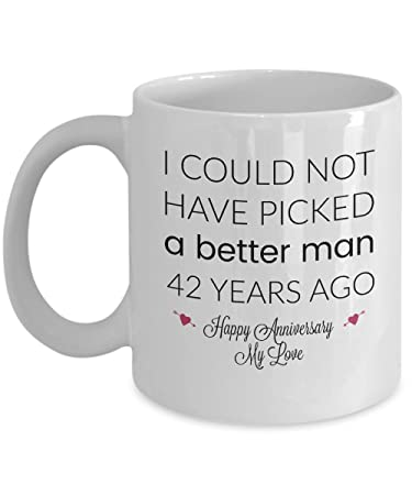 Amazon 42nd Wedding Anniversary Gifts For Him Better Man 42