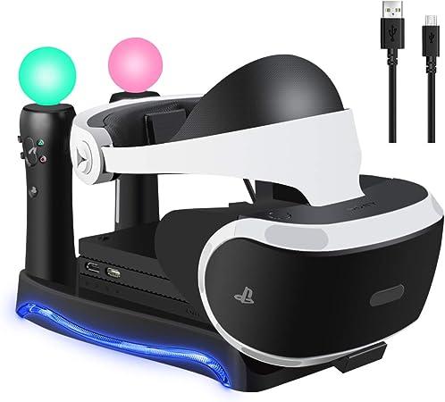 Ridioo Playstation 4 Gafas VR Soporte con Soporte de Unidad de ...