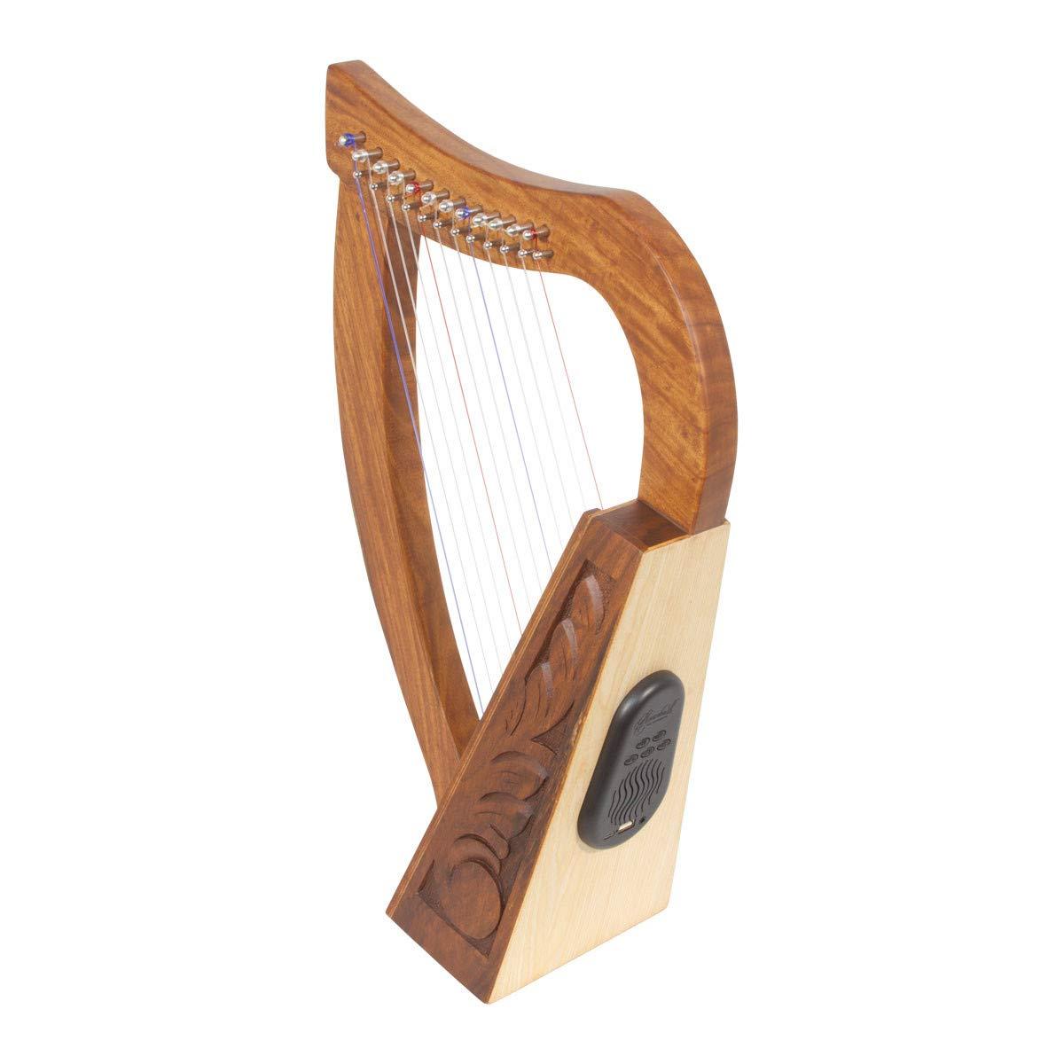 Roosebeck 12-String Celtic Baby Harp w/Bluetooth Speaker