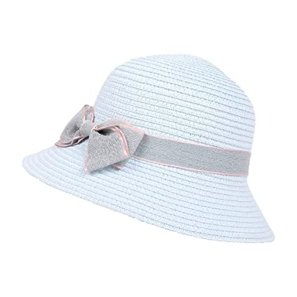 Sun Hat Cap LuluZanm 5-8 Years Old Children Bow Travel Bohemian Hats Beach  Basin d9cb7c708bf