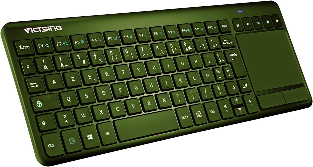 VTIN - Teclado mecánico para juegos, USB, QWERTY con 104 teclas, LED, RGB