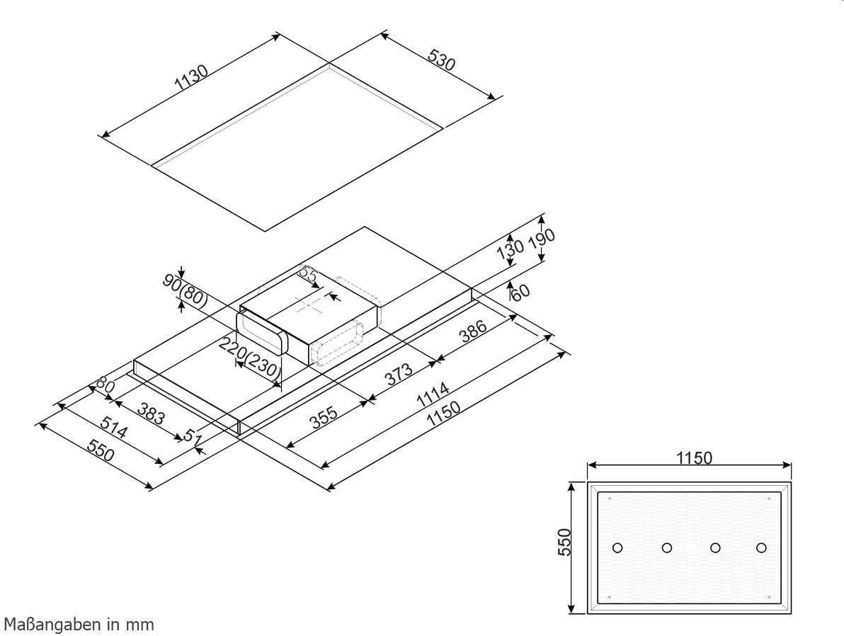 Smeg KSC120B - Campana (830 m³/h, Canalizado, A, A, F, 63 dB): Amazon.es: Hogar