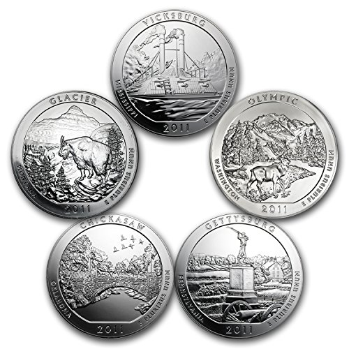 2011-5-coin-5-oz-silver-america-the-beautiful-set-brilliant-uncirculated