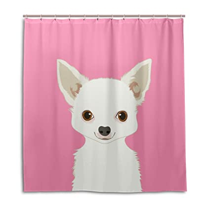 ALAZA Chihuahua Dog Shower Curtain 72 X Inch Mildew Resistant Waterproof Polyester Decoration