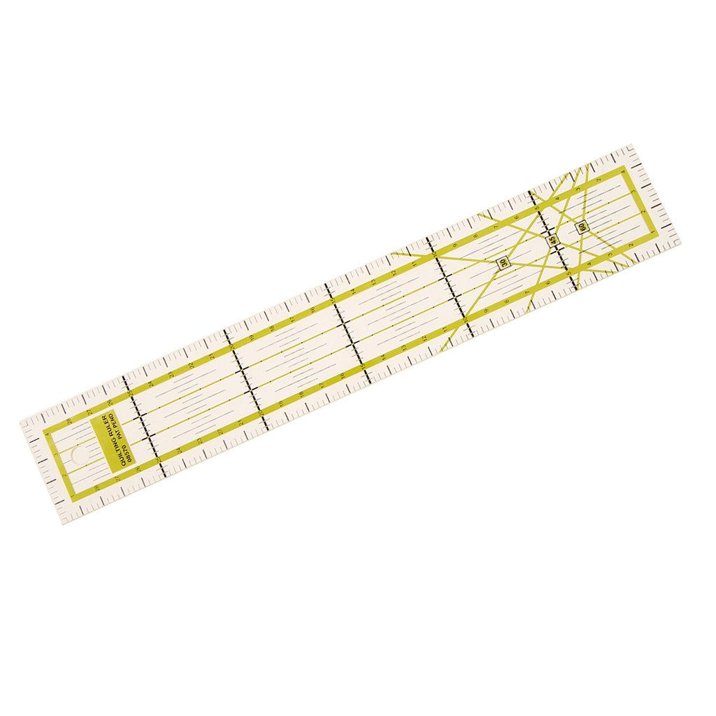 30x5cm Plastic Clear Quilting Patchwork Ruler Marking Ruler for DIY Craft
