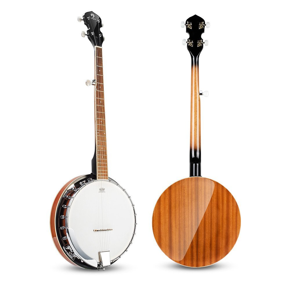 Vangoa 5 String Banjo Remo Head Closed Solid Back with beginner Kit, Tuner, Strap, Pick up, Strings, Picks and Bag by Vangoa (Image #3)