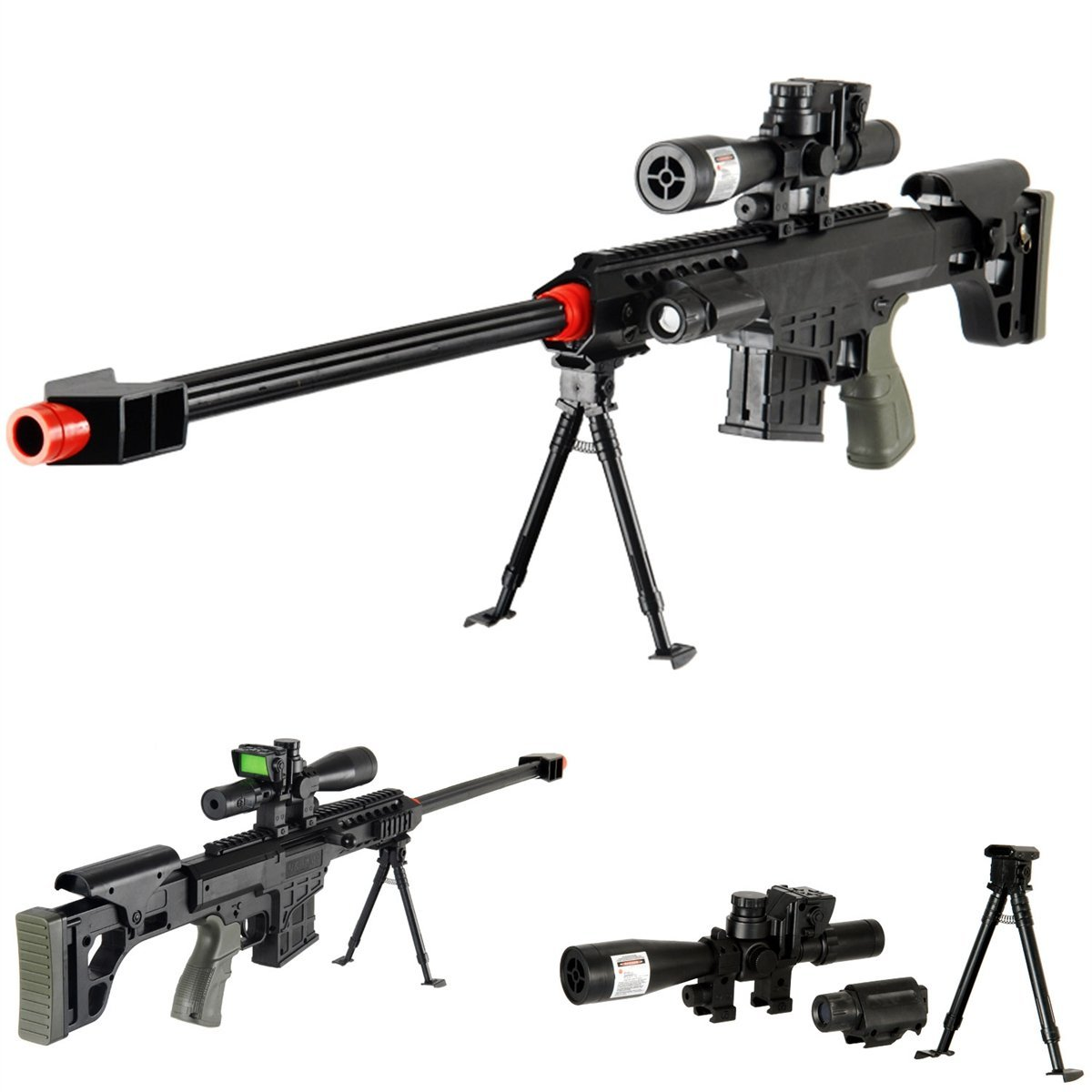 amazon com dark ops airsoft lot of 5 airsoft guns sniper rifle
